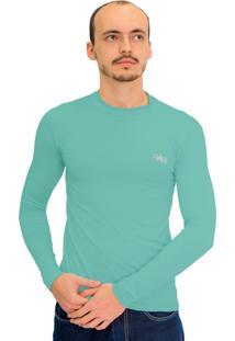 Camiseta Mprotect Térmica Manga Longa Verde Jade