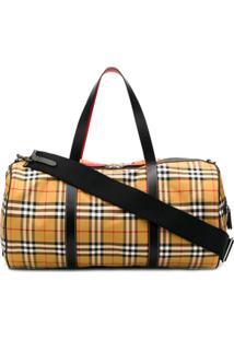Burberry Vintage Check Holdall Bag - Marrom