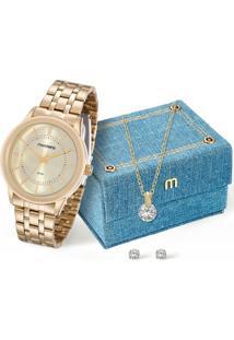 Kit Relógio Feminino Mondaine 83338Lpmvde1Ka