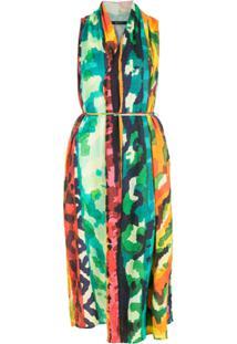 Lenny Niemeyer Vestido Frente Cruzada Estampado - Colorido