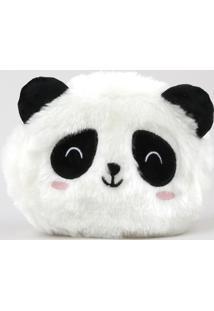 Nécessaire Feminina Panda Com Orelhinhas Em Pelúcia Off White