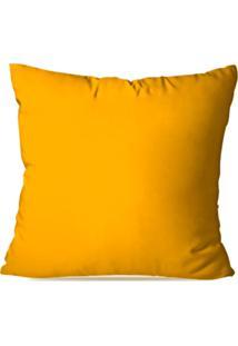 Capa De Almofada Decorativa Amarelo 35X35Cm