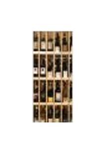Adesivo Decorativo De Porta - Garrafas De Vinhos - 651Cnpt Auto Colante