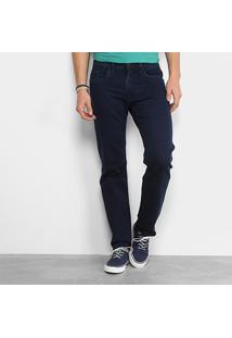 Calça Jeans Slim Replay Waitom Masculina - Masculino-Azul Escuro