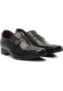 Sapato Social Democrata Smart Alpha Flex Masculino - Masculino-Preto