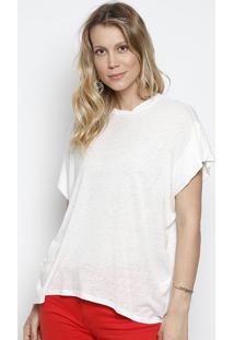 Camiseta Com Linho & Tag - Off Whiteforum