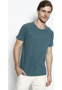 Camiseta Estonada Com Bordado - Verde- M. Officerm. Officer