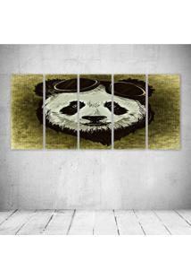Quadro Decorativo - Panda - Composto De 5 Quadros - Multicolorido - Dafiti