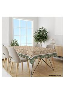 Toalha De Mesa Retangular Para 8 Lugares Flor Minimalista 1.45M X 2.70M Único