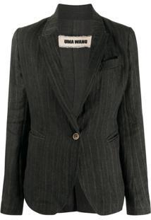 Uma Wang Blazer Slim Com Abotoamento Simples - Preto
