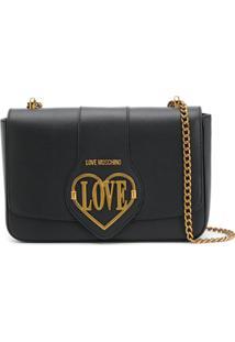 Love Moschino Bolsa Tiracolo Love Com Logo - Preto
