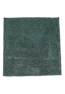 Tapete Chinelle Grecco Microfibra Cinza Escuro 40X60 Cm