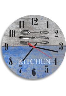 Relógio De Parede Decorativo Talheres Kitchen Único