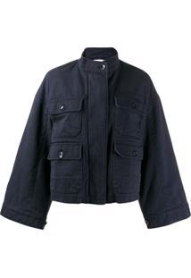 Closed Wide Sleeve Jacket - Azul