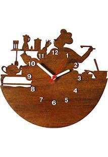 8069a79c9e7 Amazon. Relógio De Parede Decorativo De Parede Moderno Mdf Tabaco Me  Criative ...