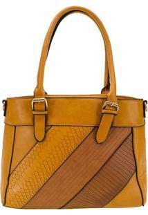 Bolsa Feminina Arara Dourada - T303 Amarelo