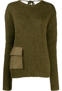 Rochas Suéter Com Bolso - Verde