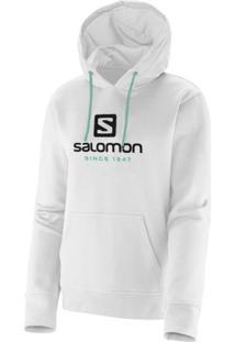 Blusa Salomon Logo Hoodie Feminino Branco Gg