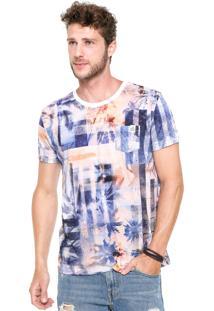 Camiseta Triton New Azul/Coral/Branca