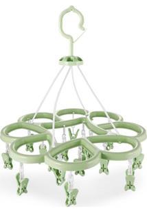 Mini Varal Jacki Design Com 16 Prendedores Ayj17256-Ve Verde Unico