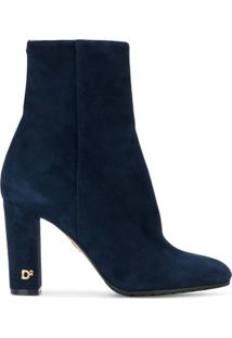 Dsquared2 Ankle Boot De Couro - Azul