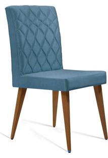 Cadeira De Jantar Edon Linho Azul