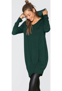 Vestido Com Capuz Verde Musgo