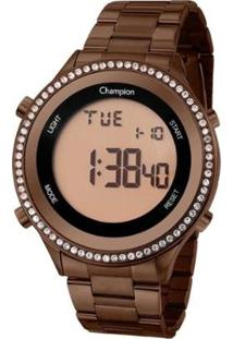 Relógio Champion Digital Ch40222R Feminino - Feminino-Marrom
