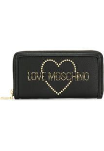 Love Moschino Carteira Com Relevo - Preto