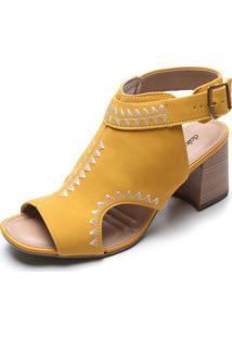 Sandália Dakota Recortes Amarelo