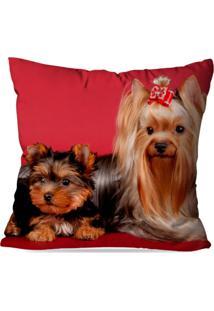 Capa De Almofada Decorativa Dogs 35X35Cm