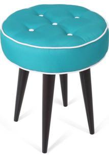 Puff Decorativo Para Sala, Quarto Retro Atz 138 Azul Turquesa