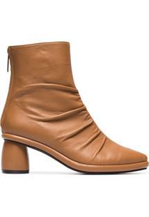Reike Nen Ankle Boot Com Pelo De Carneiro - Marrom
