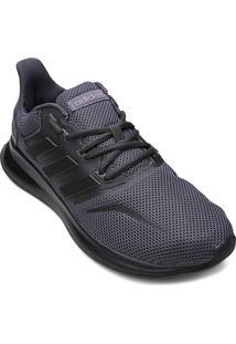 Tênis Adidas Falcon Masculino - Masculino-Cinza+Branco