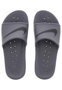 Chinelo Nike Kawa Shower - Slide - Masculino - Cinza Escuro/Preto