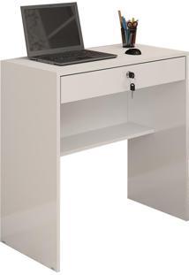 Mesa Escrivaninha Branca Para Computador Andorinha Jcm Movelaria