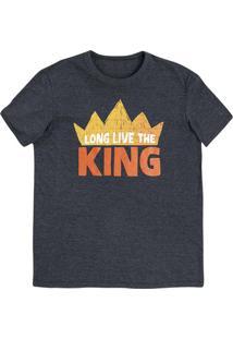 Camiseta Unissex Manga Curta Com Estampa - Rei Leão