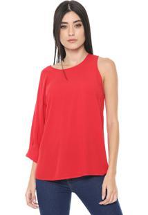 Blusa Colcci Assimétrica Vermelha
