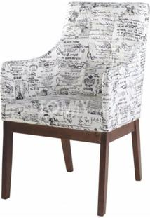 Poltrona Florença Com Braço - Estampa Decorativa - Tommy Design
