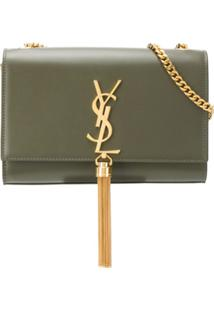 Saint Laurent Bolsa Tiracolo Kate - Verde