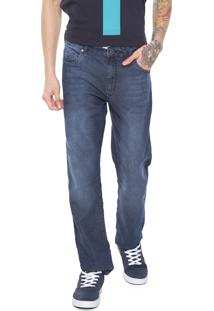Calça Jeans Volcom Reta Kinkade Azul