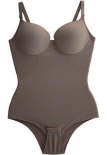 Cinta Body Bojo Modeladora Redutora Compressão Afina Cintura Feminina Liebe - Feminino-Marrom