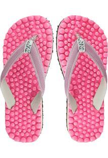 Chinelo De Dedo Anabela Mundoflex Massageador - Pink