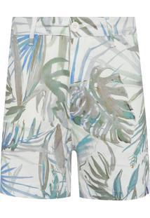 Bermuda Masculina Californian Palms - Off White