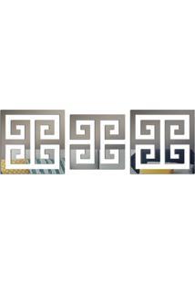 Espelho Love Decor Decorativo Kit Ladrilho Abstrato ÚNico - Prata - Dafiti