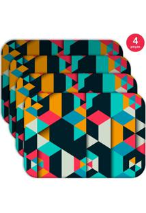 Jogo Americano Love Decor Wevans Colorful Polygonal Kit Com 4 Pçs
