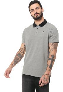Camisa Polo Hurley Reta Especial Icon Cinza