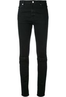 Christopher Kane Calça Jeans Slim Com Velcro - Preto