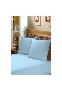 Fronha Avulsa Camesa Azul 150 Fios 50Cm X 70Cm