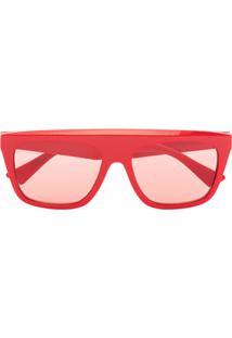 Bottega Veneta Eyewear Óculos De Sol Quadrado Bv1060S - Vermelho